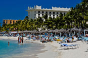 Palm Beach in Aruba, Caribbean sea