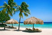 Curacao island in Caribbean Sea