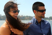 Photo of Ana Ivanovic and Novak Djokovic