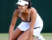Pictures of Ana Ivanovic on tennis court
