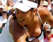 Ana Ivanovic on the tennis court