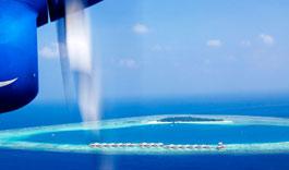 Maldives Velavaru, view from the plane