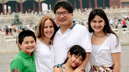 Photo of Dr. Donald Liu with his family