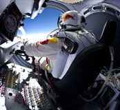 Photos of Felix Baumgartner jumping