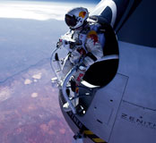 Felix Baumgartner jamping from capsule