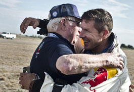 Felix Baumgartner with his mentor Joseph Kittinger