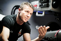 Felix Baumgartner discusses details for the Red Bull Stratos mission