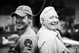 Felix Baumgartner and his mentor Joseph Kittinger