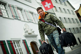 Felix Baumgartner leaves Switzerland for Roswell, New Mexico USA for the final jump