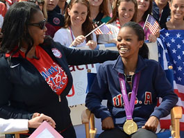 Gabby Douglas with her mom photo