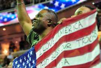 Proud Father Supports Gabby Douglas at U.S. Olympic Trials