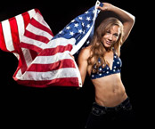 Lolo Jones Photos with the American flag