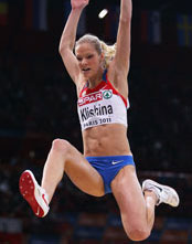 Darya Klishina jumping photo