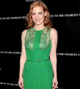 Jessica Chastain - PETA sexiest vegetarian celebrity