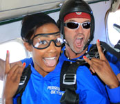 Kim Glass, skydiving photos