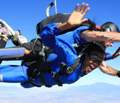 Photos of Kim Glass skydiving