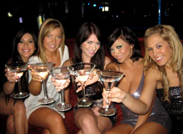 Australian women at a bachelorette party
