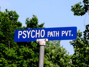 Psycho PATH street sign