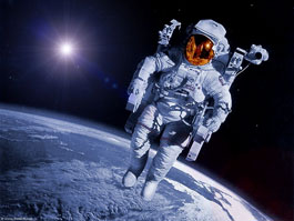 Astronaut on spacewalks