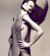Carla Bruni in black white erotic photos