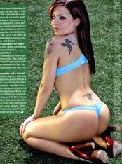Catia Rocha, sexy soccer fan
