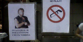 Poster of Chuck Norris on Croatian Bakery