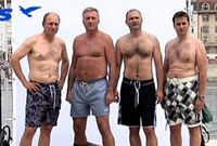 Guerilla Marketing! Naked Czech politicians in Croatia!