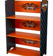 Harley Davidson Clothespole, Toy-Box and Book-Shelf