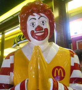 McDonalds Clown prayers are not helping