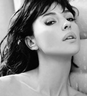 Black and White photo of Monica Bellucci