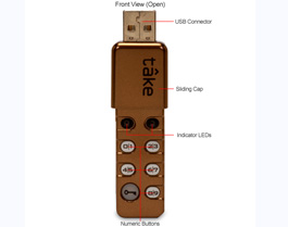 Personal Pocket Safe USB flash memory