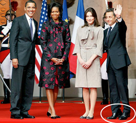 Sarkozy trying to look taller
