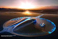 Terminal Hanger Concept Spaceport America - A spaceport in New Mexico