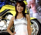 Japanese girl in Tokyo Motor Show