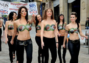 Topless march in Manchester