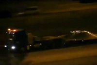 UFOs transported through Dallas highway