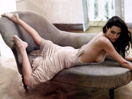 Half naked Angelina Jolie