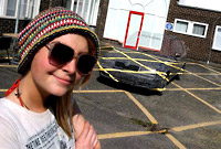 Sara Watson art student and her invisible car