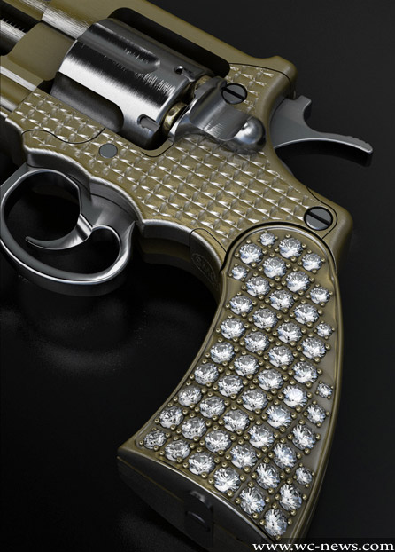 the smallest gold gun in the world is �shooting� with
