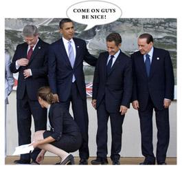 Obama, Sarkozy and Berlusconi